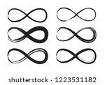 hand drawn infinity symbols set ... | Shutterstock .eps vector #1223531182