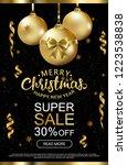 the christmas sale. advertising ... | Shutterstock .eps vector #1223538838
