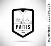 paris city modern skyline... | Shutterstock .eps vector #1223541175