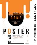 rome modern web banner design... | Shutterstock .eps vector #1223541202