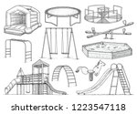 playground equipment collection ... | Shutterstock .eps vector #1223547118