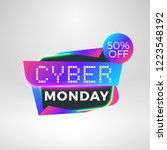 cyber monday sale sticker.... | Shutterstock .eps vector #1223548192