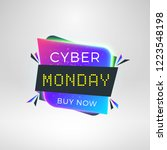 cyber monday sale sticker.... | Shutterstock .eps vector #1223548198