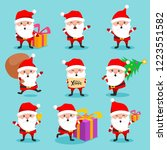 christmas santa claus cute... | Shutterstock .eps vector #1223551582