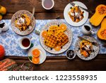 Breakfast With Pumpkin Waffles...