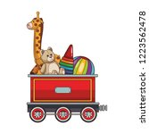 train wagon with toys | Shutterstock .eps vector #1223562478