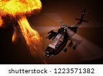 Silhouette Of Helicopter With...