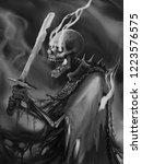 Undead Skeleton Creature In A...
