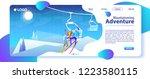 vector illustration with winter ... | Shutterstock .eps vector #1223580115