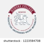 honors college badge is a... | Shutterstock .eps vector #1223584708