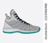 design vector shoes basketball... | Shutterstock .eps vector #1223586988