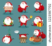 santa claus  christmas set | Shutterstock . vector #1223587702