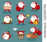 santa claus  christmas set   Shutterstock . vector #1223587702