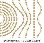 set of curved  wavy  arcing and ... | Shutterstock .eps vector #1223588395