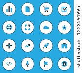 user icons colored set with... | Shutterstock .eps vector #1223594995