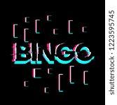 bingo  creative greeting card... | Shutterstock .eps vector #1223595745