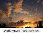 sunset in the evening sky with... | Shutterstock . vector #1223596228