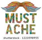 mustache ornate sketch for your ...   Shutterstock .eps vector #1223598955