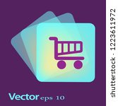 flat vector cart icon | Shutterstock .eps vector #1223611972