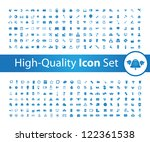 media icon set high   quality | Shutterstock .eps vector #122361538