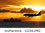 Airplane On A Landing Path