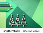 tree simple wooden trees and... | Shutterstock . vector #1223619868
