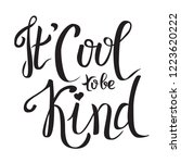 it's cool to be kind. world... | Shutterstock .eps vector #1223620222