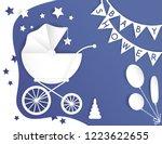 vector paper cut illustration... | Shutterstock .eps vector #1223622655