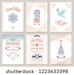 elegant vertical winter... | Shutterstock .eps vector #1223633398