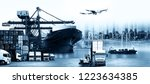 logistics and transportation of ... | Shutterstock . vector #1223634385