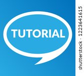 tutorial sign label. tutorial... | Shutterstock .eps vector #1223641615