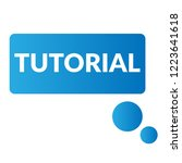 tutorial sign label. tutorial... | Shutterstock .eps vector #1223641618