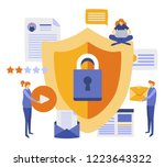 data protection concept.safety... | Shutterstock .eps vector #1223643322
