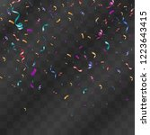 lots of colorful tiny confetti... | Shutterstock .eps vector #1223643415