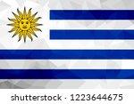 uruguay polygonal flag. mosaic... | Shutterstock . vector #1223644675