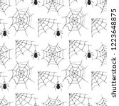 spider web seamless pattern... | Shutterstock .eps vector #1223648875