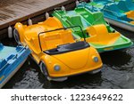 parking of colorful water... | Shutterstock . vector #1223649622