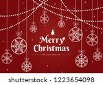 merry christmas and happy new... | Shutterstock .eps vector #1223654098