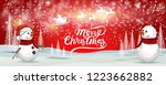 christmas greeting card holiday ... | Shutterstock .eps vector #1223662882