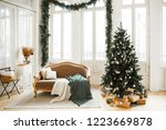 christmas decor. bright... | Shutterstock . vector #1223669878