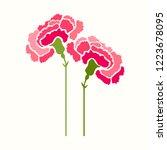 carnation flower vector icon ... | Shutterstock .eps vector #1223678095