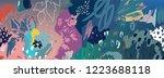 floral background. trendy... | Shutterstock .eps vector #1223688118