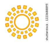 sun icon art design vector... | Shutterstock .eps vector #1223688895