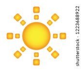 sun icon vector design isolated | Shutterstock .eps vector #1223688922