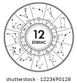 the 12 zodiacal signs... | Shutterstock .eps vector #1223690128