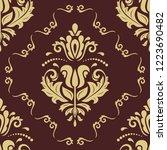 orient vector classic pattern.... | Shutterstock .eps vector #1223690482