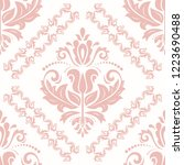 classic seamless vector pink... | Shutterstock .eps vector #1223690488