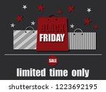 black friday sale banner....   Shutterstock .eps vector #1223692195