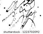 ink grunge drops texture. black ... | Shutterstock .eps vector #1223702092