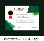 modern certificate vector   Shutterstock .eps vector #1223705248